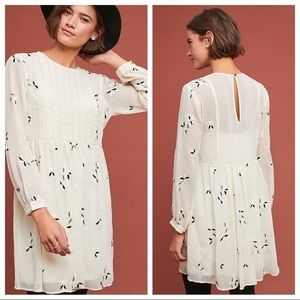 NWT Anthropologie Feuille embroidered dress